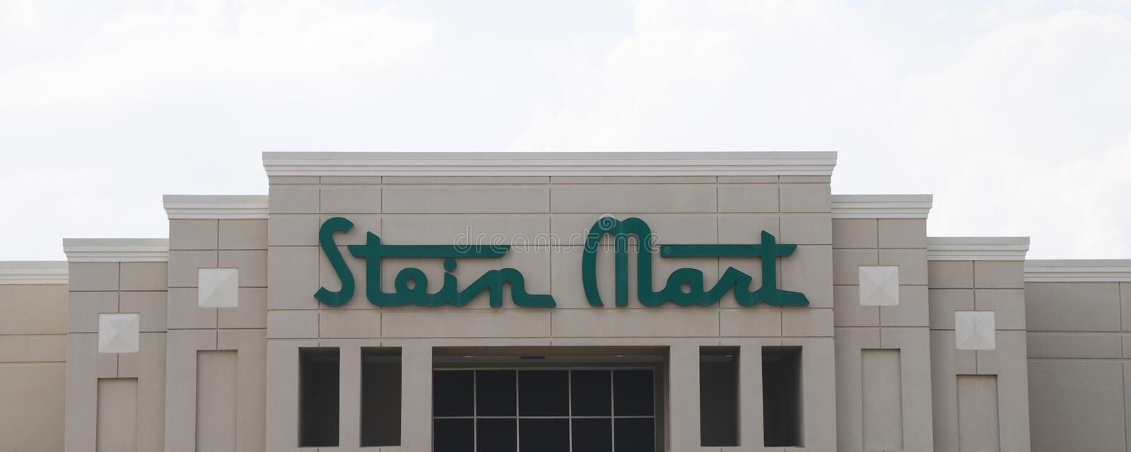Stein Mart Company Sign royalty-vrije stock afbeelding