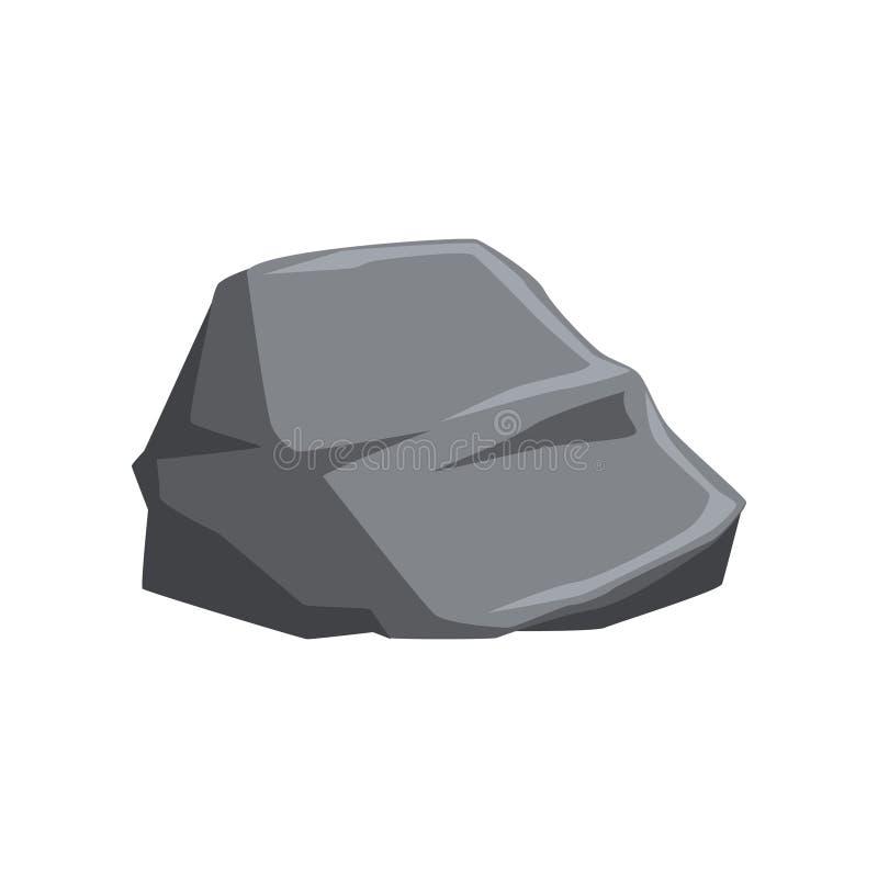 Stein mit Lichtern und Schatten Festes Mineralmaterial Grauer Gebirgsfelsen Natürliches Vektorelement für Landschaft des Videos vektor abbildung