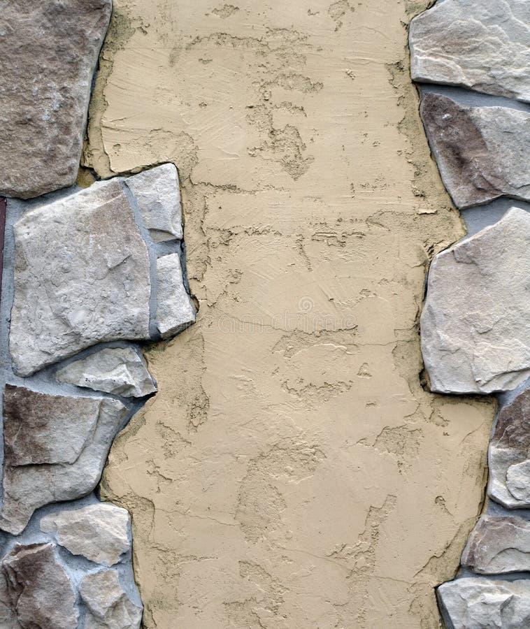 stein mit stuck verzierte wand stockbild bild von entfernt gro 61648157. Black Bedroom Furniture Sets. Home Design Ideas
