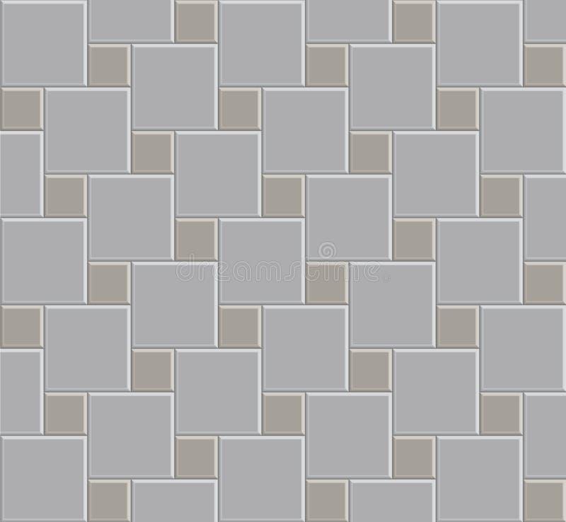Stein-Musterboden der Fliese 3d lizenzfreie abbildung