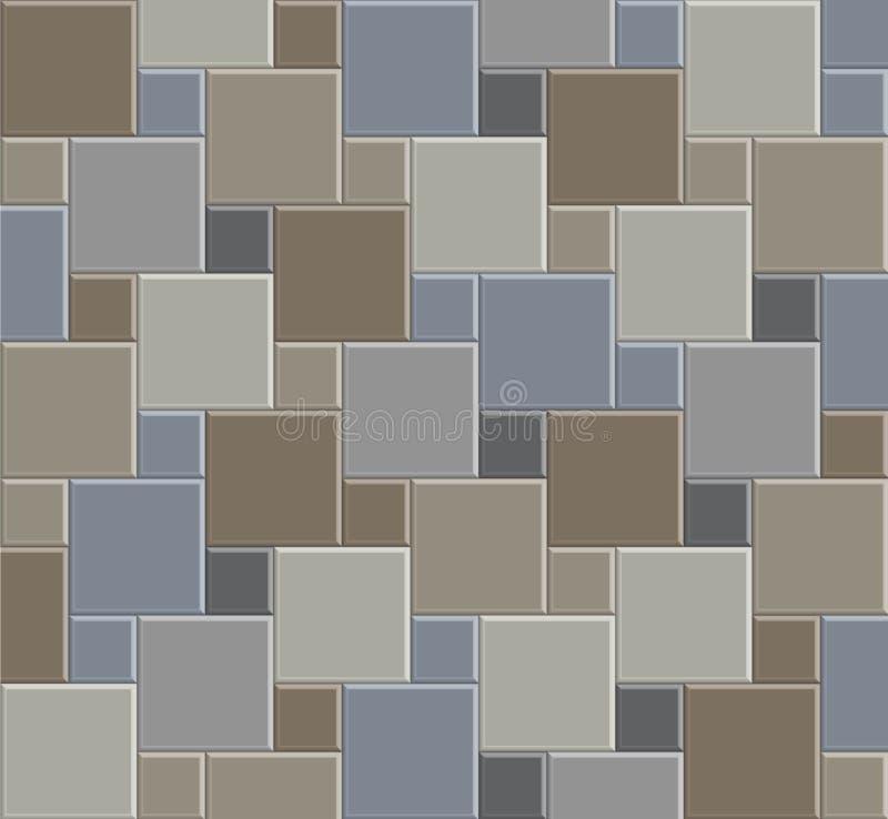 Stein-Musterboden 03 der Fliese 3d vektor abbildung