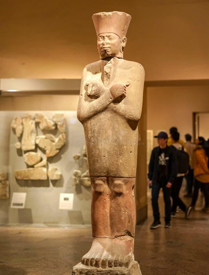 Stein-pharaon am Stadtmuseum stockfotos