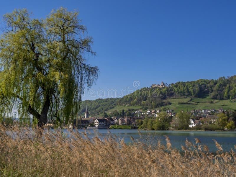 Stein am Rhein en Suisse image libre de droits