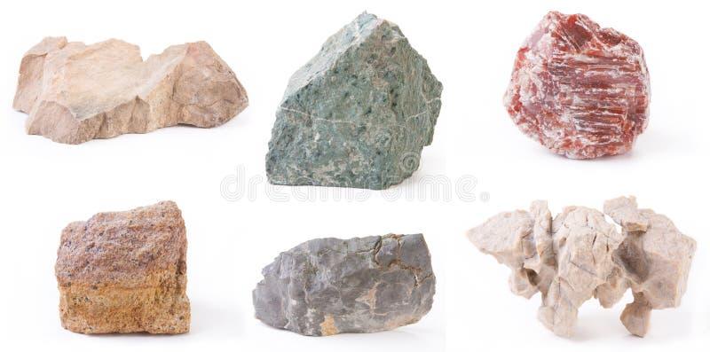 Stein sechs, getrennt lizenzfreie stockfotos