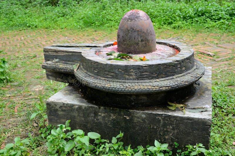 Stein-Shiva-lingam lizenzfreie stockbilder