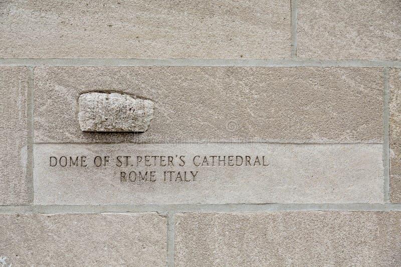 Stein von der Haube von St Peters stockfotografie