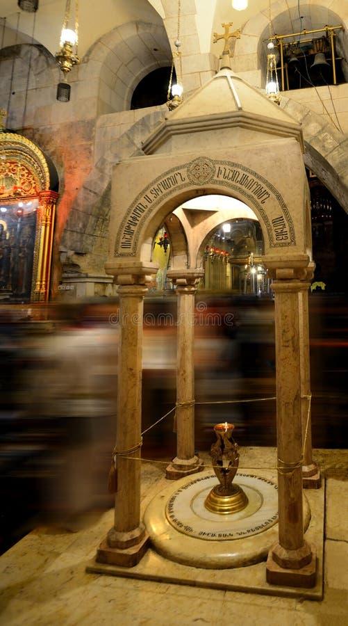 Stein von drei Frauen Heilig begraben Sie Cherch von Jesus stockbild