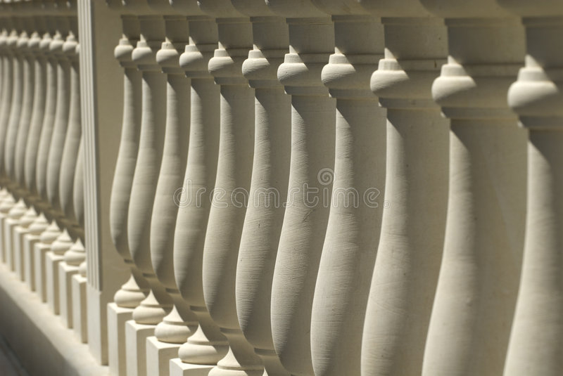 Steinbalustrade stockfoto