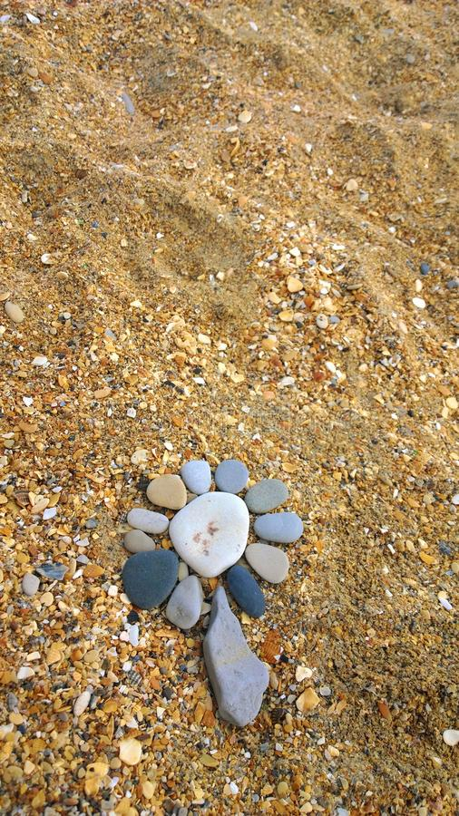 Steinblumenfluß lizenzfreies stockfoto