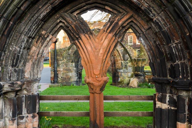 Steinbogen bei Carlisle Cathedral stockbild