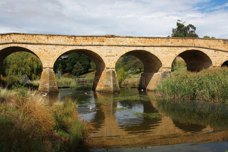 Steinbrücke in Richmond, Tasmanien lizenzfreie stockfotos