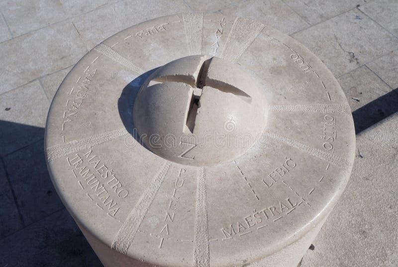 Steindoppelpoller in der Spalte lizenzfreies stockbild