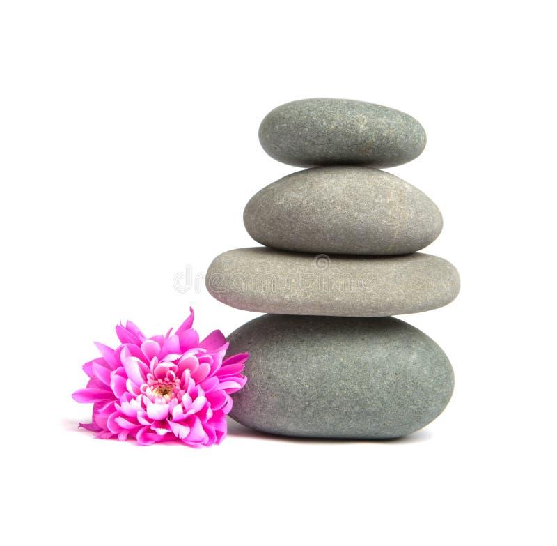 Steine für Badekurorttherapie lizenzfreie stockfotografie