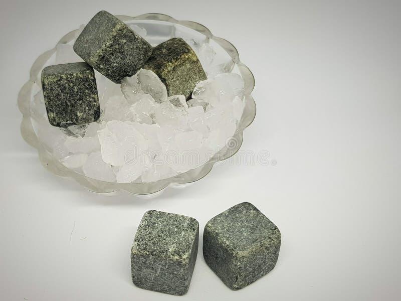 Steine für Erfrischungsgetränke stockbild