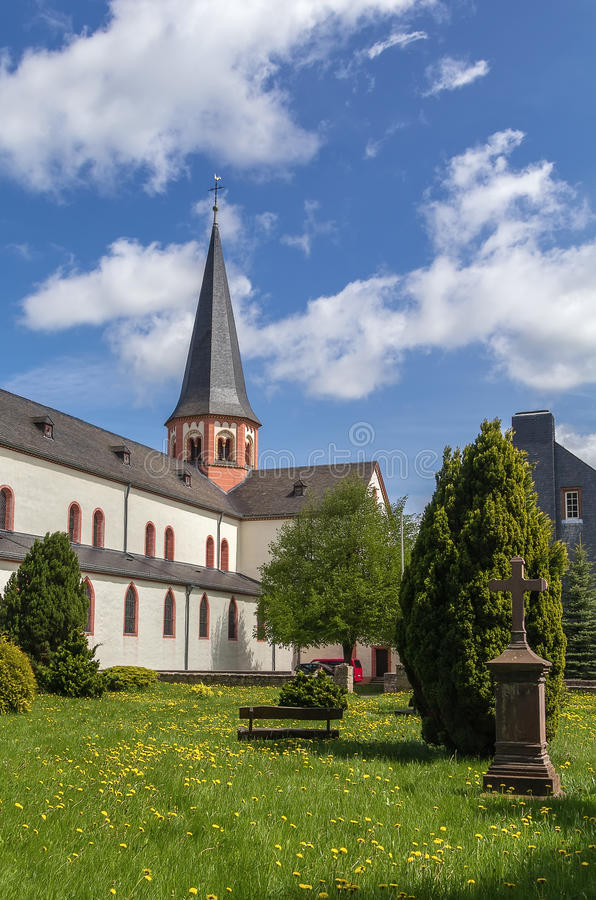 Steinfeld Abbey, Germany. Basilica of Steinfeld Abbey was built between 1142 and 1150 by the Premonstratensians as one of the earliest vaulted churches in royalty free stock image
