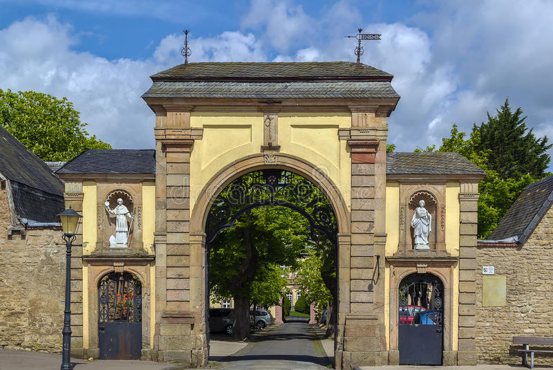 Steinfeld Abbey, Germany. Entrance gate to the Steinfeld Abbey, Germany royalty free stock image
