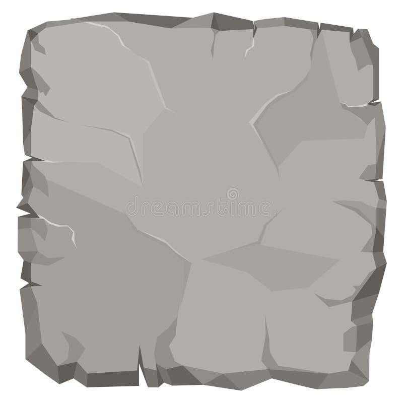 Steinfelsenkarikatur, gebrochener Flussstein Vektor stock abbildung
