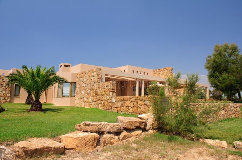 Steingebäude an der Sani Rücksortierung lizenzfreie stockfotos