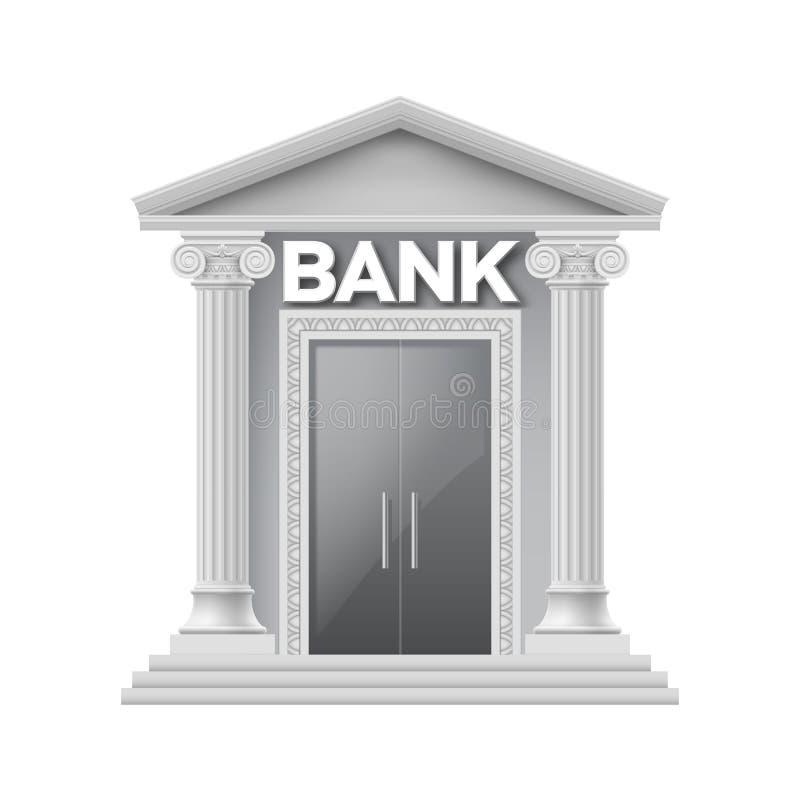 Steingebäude von Bank stock abbildung
