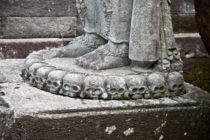 Steinhandwerk in Candi Penataran Tempel in Blitar, Indonesien. lizenzfreies stockbild