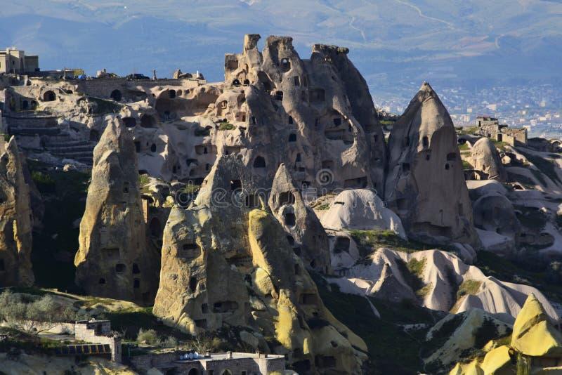 Steinhaus in Cappadocia, die Türkei stockfotos