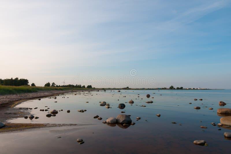 Steiniger Strand stockfoto