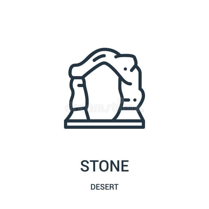 Steinikonenvektor von der Wüstensammlung Dünne Linie Steinentwurfsikonen-Vektorillustration Lineares Symbol für Gebrauch auf Netz lizenzfreie abbildung