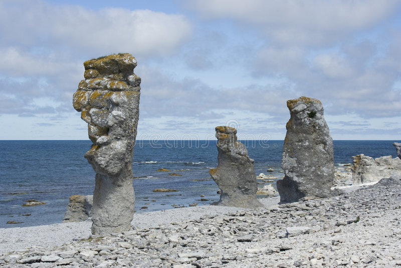 Steinküste stockfotos