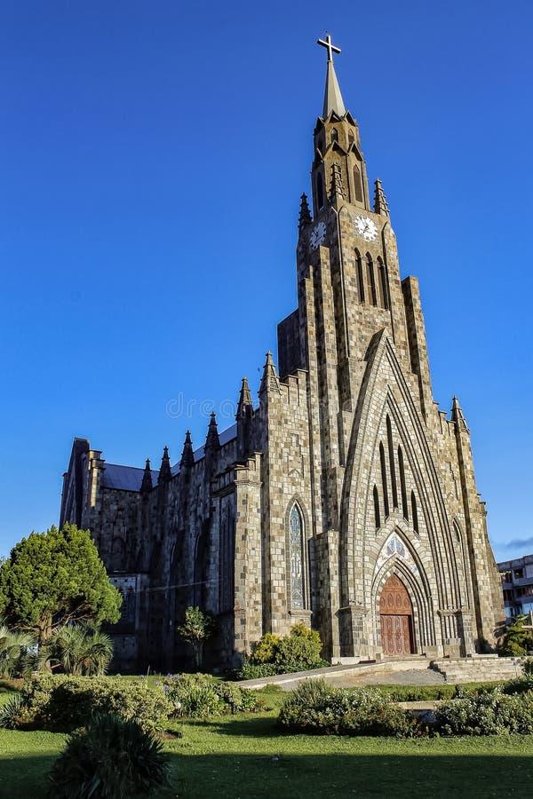 Steinkathedralenstadt Canela/Gramado, Rio Grande Do Sul, Brasilien - Kirchenstadt Canela Rio Grande Do Sul, Brasilien stockfoto