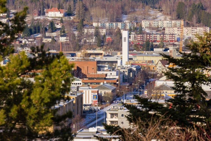 Steinkjer en el medio de Noruega imagen de archivo libre de regalías