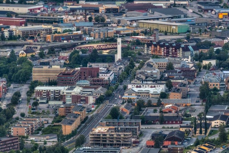 Steinkjer mitten in Norwegen lizenzfreie stockbilder