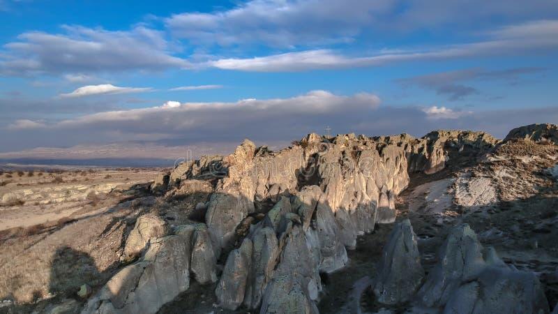 Steinlandschaft in Goreme Cappadocia die Türkei stockfoto
