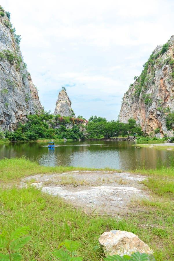 Steinpark Khao Ngu in Ratchaburi, Thailand lizenzfreies stockfoto
