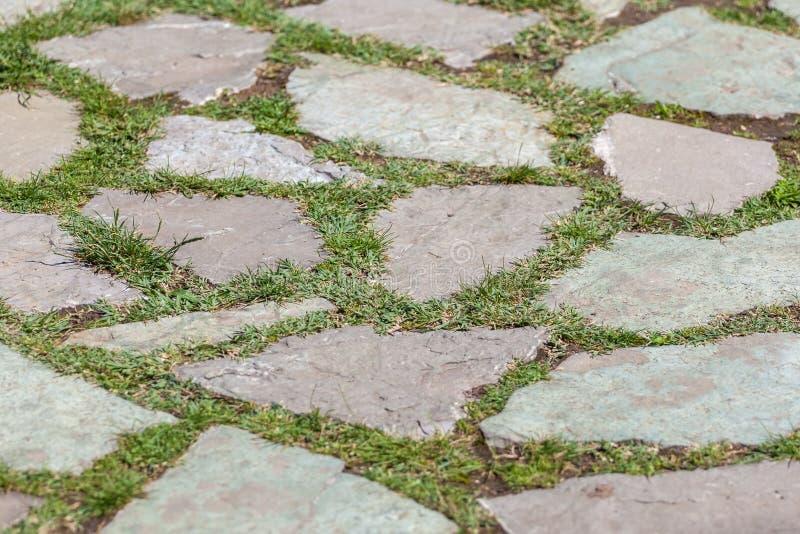 Steinpflasterungsbeschaffenheit Abstrakter Hintergrund alten Kopfsteins p lizenzfreie stockbilder