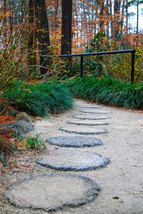Steinplatten-Gehweg stockbilder