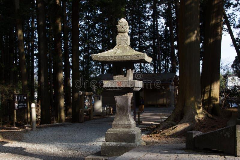 Steinsäule Japan lizenzfreie stockbilder