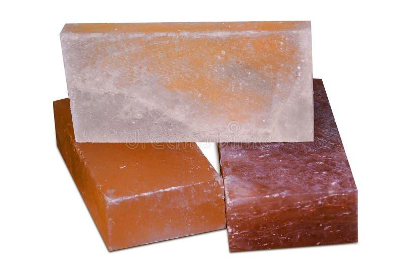 Steinsalz-Fliesen u. Ziegelsteine lizenzfreies stockfoto