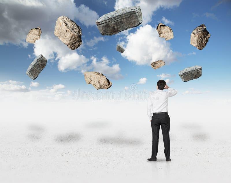 Steinschlag im Himmel lizenzfreies stockfoto