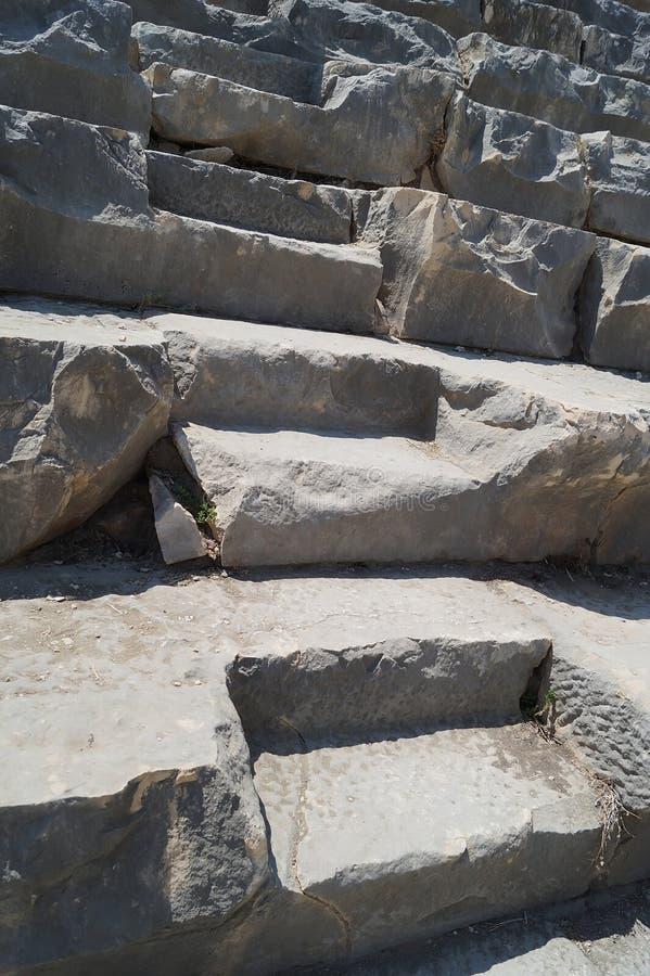 Steinschritte des Kolosseums stockfoto