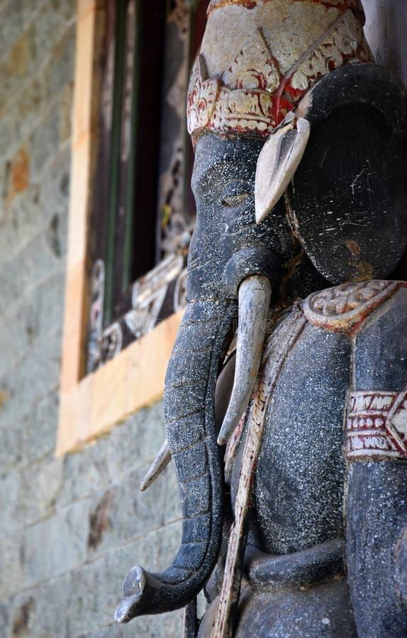 Steinskulptur von Ganesha oder von Ganesh, hinduistic Gott, Bali stockfotografie