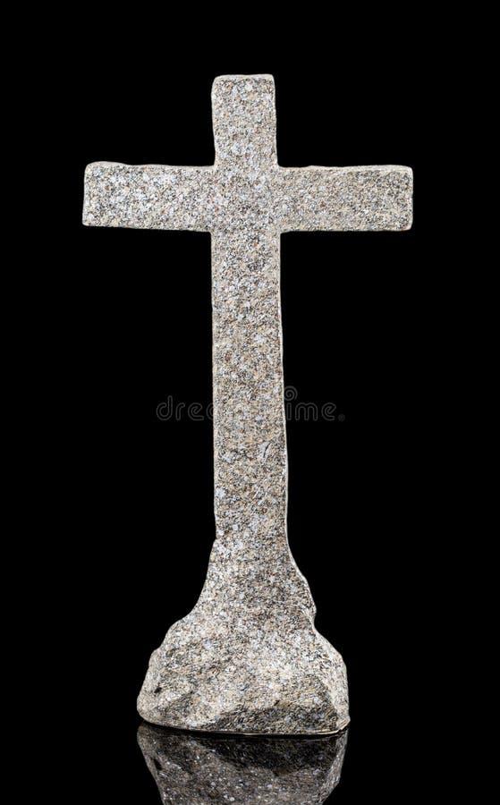Steinstatue der Kreuzigung von Jesus Christ lokalisierte auf einer Querstation lizenzfreies stockfoto
