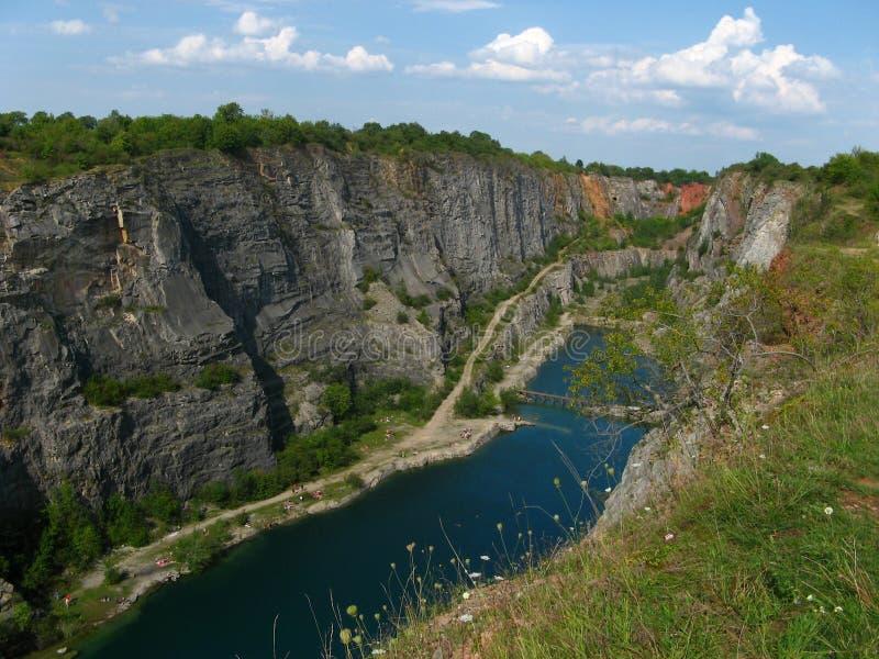 Steinsteinbruch großes Amerika nahe Prag, Tschechische Republik lizenzfreie stockfotos