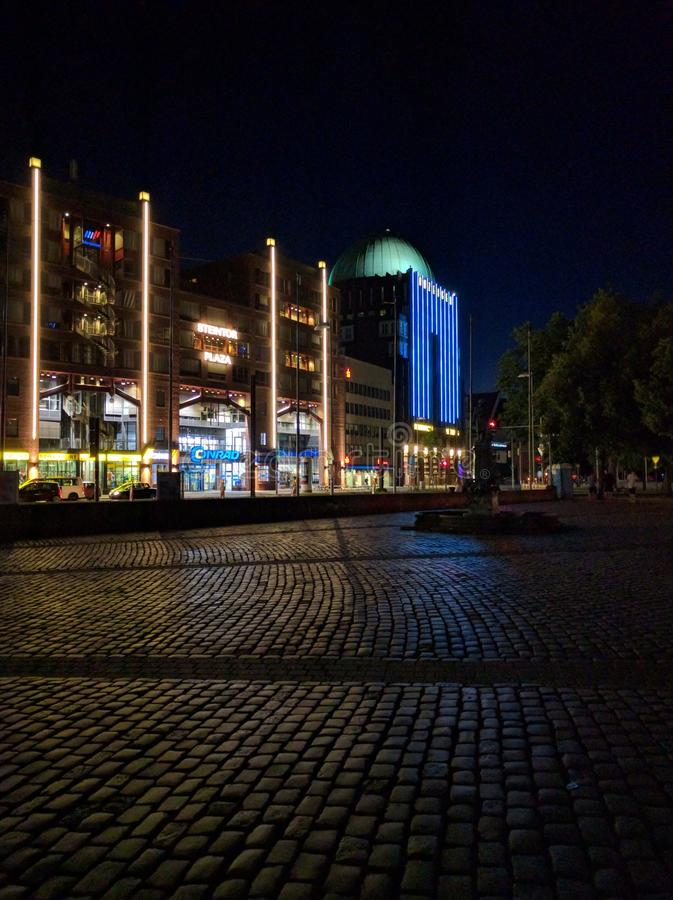 Steintor hannover at night royalty free stock photos
