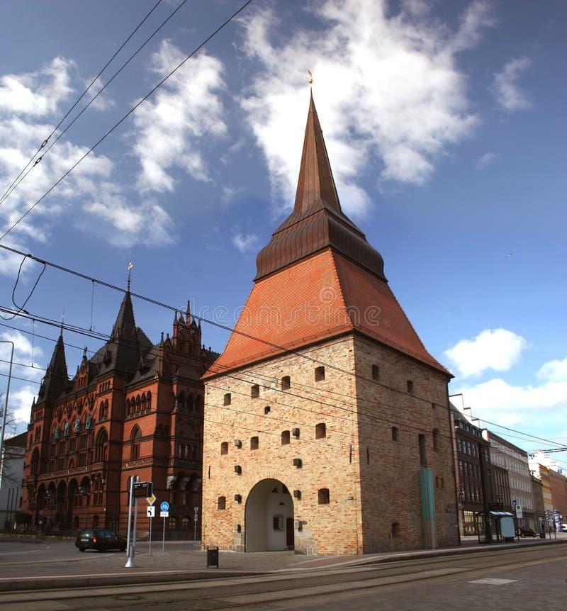 Steintor in Rostock stockfotos