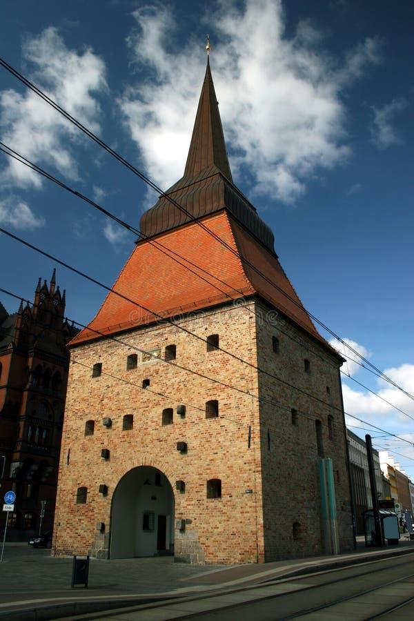 Steintor in Rostock lizenzfreie stockbilder
