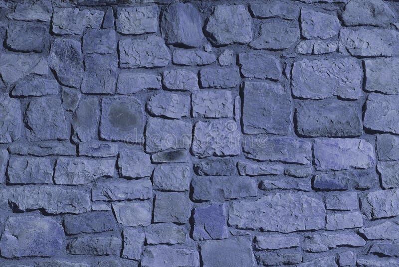 Steinwand. Blaue Farbe Stockbild. Bild Von Viereck