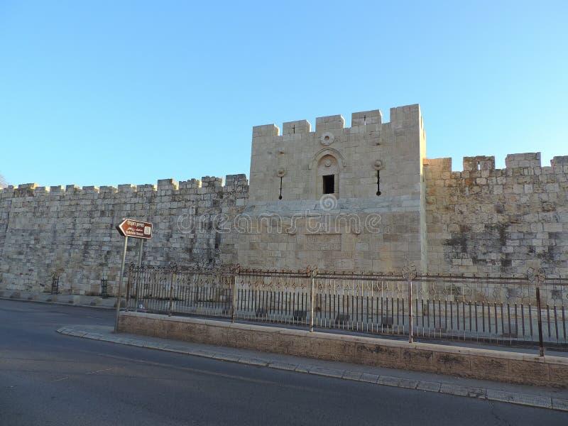 Steinwand der Al-Aqsamoschee, Jerusalem lizenzfreies stockfoto