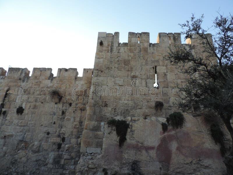 Steinwand der Al-Aqsamoschee, Jerusalem stockfotos
