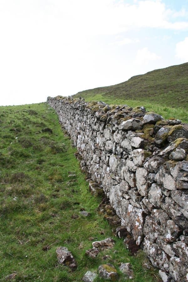 Steinwand Insel von Skye lizenzfreie stockfotografie