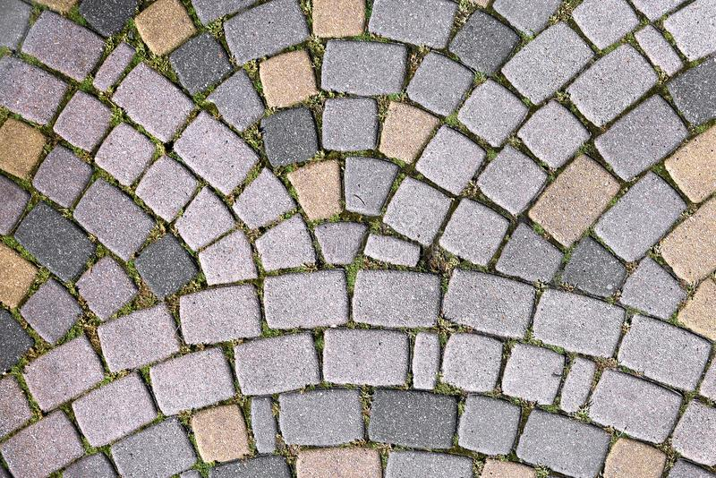 Steinweg an der alten Stadt in Europa Beschaffenheit, Abschluss oben Auszug strukturierter Hintergrund stockbilder